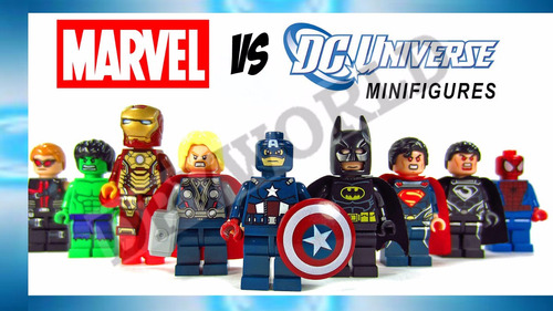 lego iron man superman hulk batman wolverine cap america