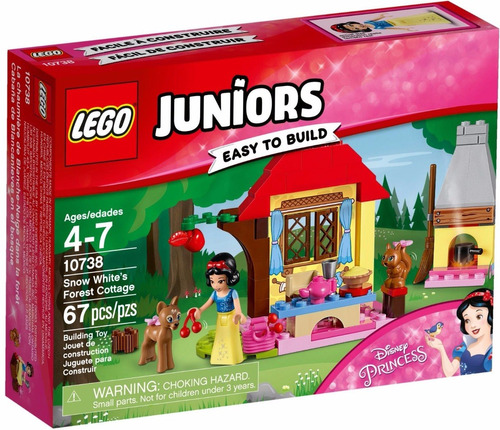lego juniors: cabaña de blancanieves en el bosque + regalo