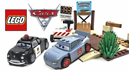 lego juniors carros disney + mcqueen 10742