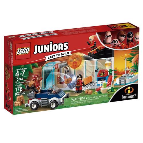 lego juniors - disney - os incríveis 2 - fuga da casa - 1076