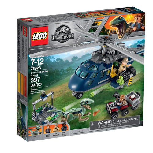 lego® jurassic world - blue's helicopter pursuit (75928)