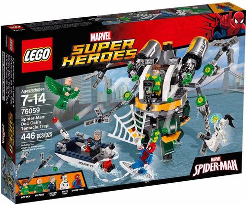 lego marvel  76059 spiderman: trampa tentaculosa dock ock