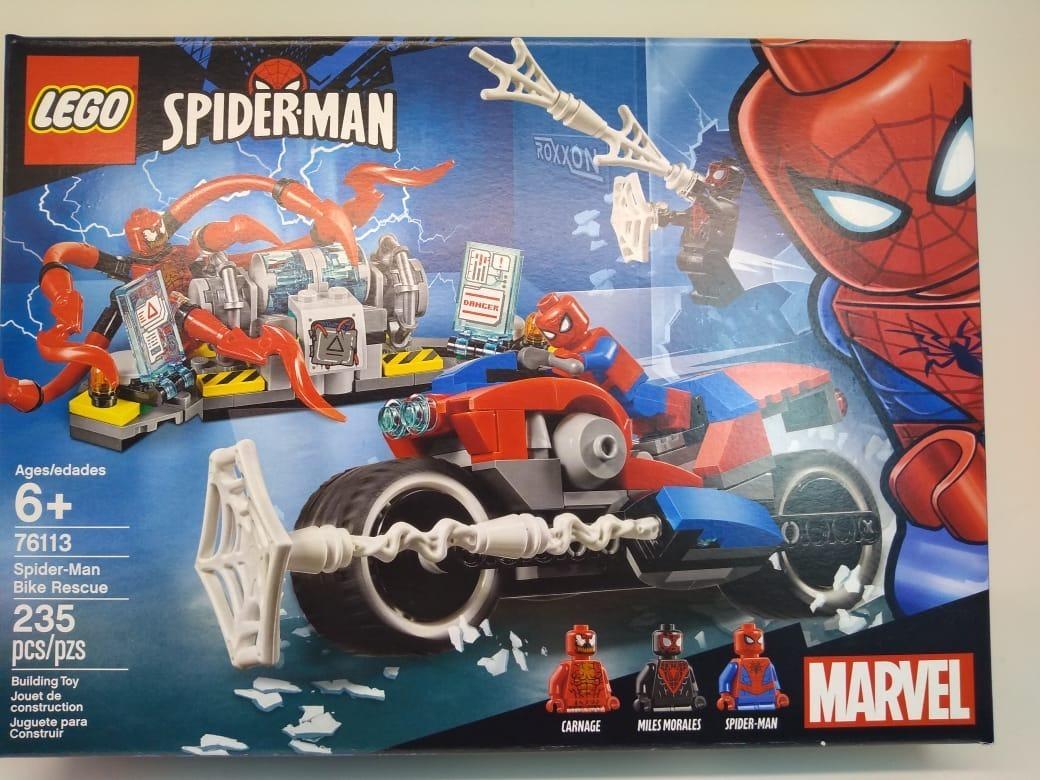 Homem Man Aranha Marvel Do 76113 Lego Spider A Moto HD29IE