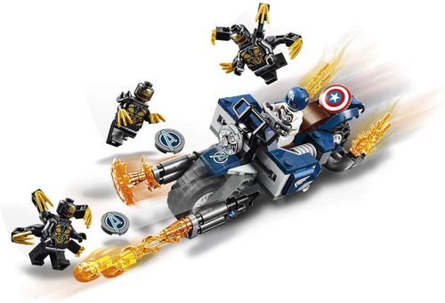 lego marvel avengers capitán américa 76123 167 pcs