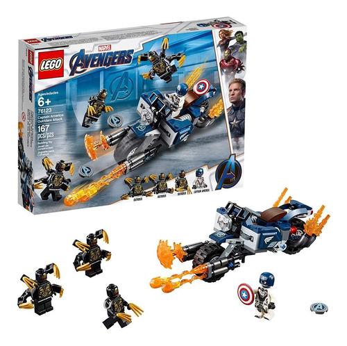 lego marvel avengers endgame moto capitan america 76123