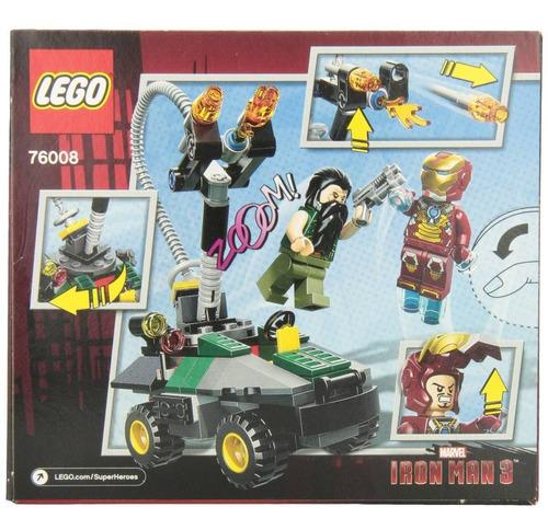 lego marvel iron man vs the mandarin ultimate modelo 76008