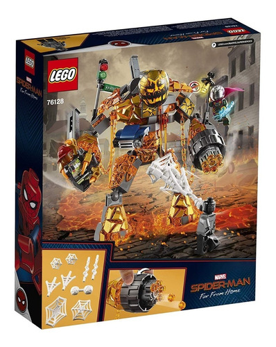 lego marvel spiderman lejos casa molten man 76128 hombre ara