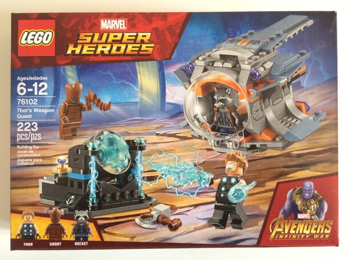 Lego Marvel súper Heroes 76102 Thor's Weapon Quest