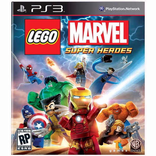lego marvel super heroes ps3 psn - midia digital
