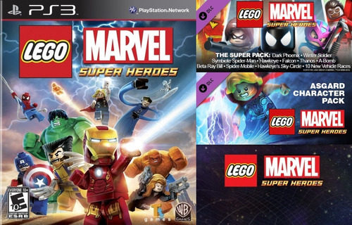 lego marvel superheroes + dlc pack ~ ps3 digital español