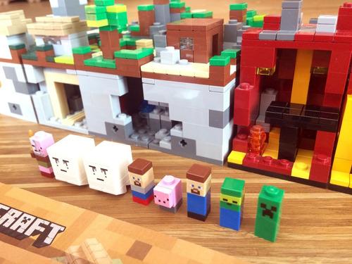 lego minecraft 21102, 21105, 21106 -armado-