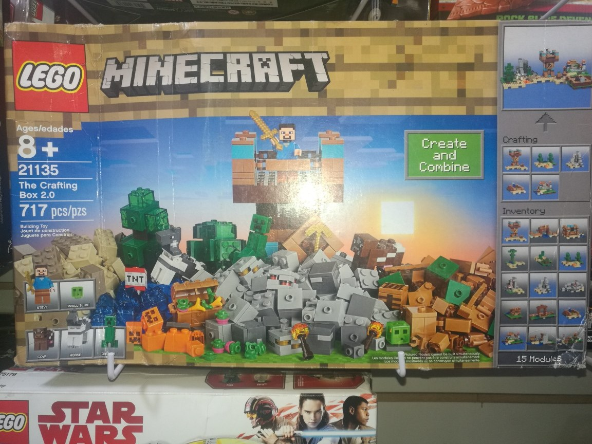 lego minecraft 21135 crafting box 2.0