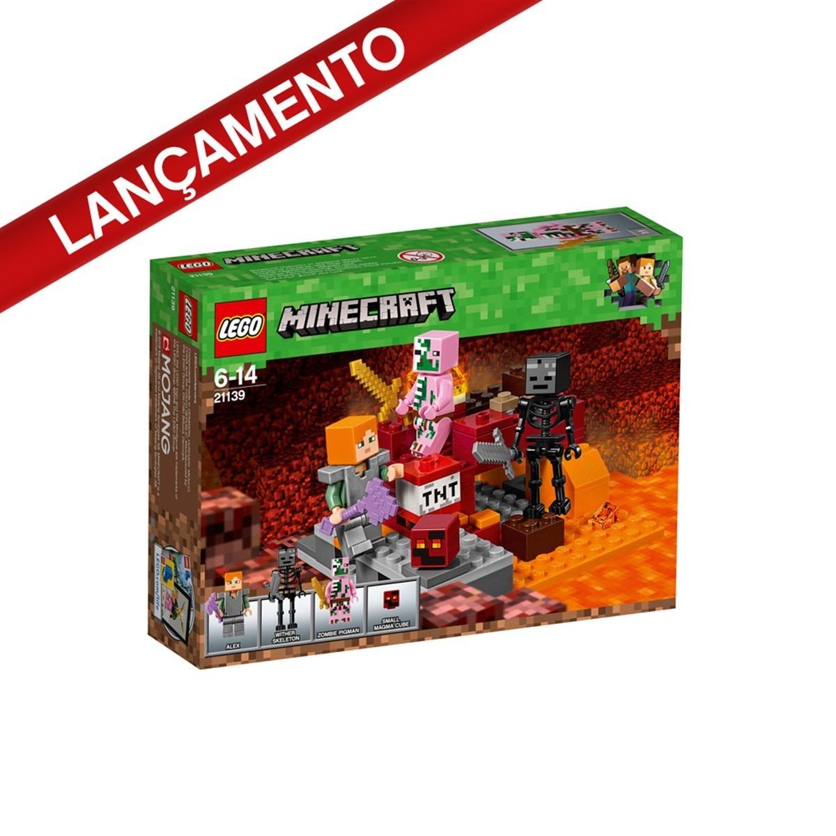 6e51f95fc3c8 lego minecraft 21139 o combate de nether com 84 peças. Carregando zoom.