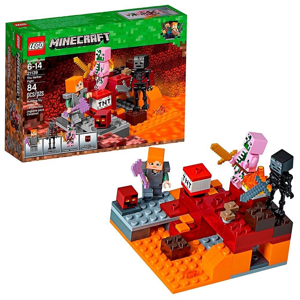 d3ec9f2cd065 Lego Minecraft Combate De Nether 21139 (84 Peças) - R$ 105,90 em ...