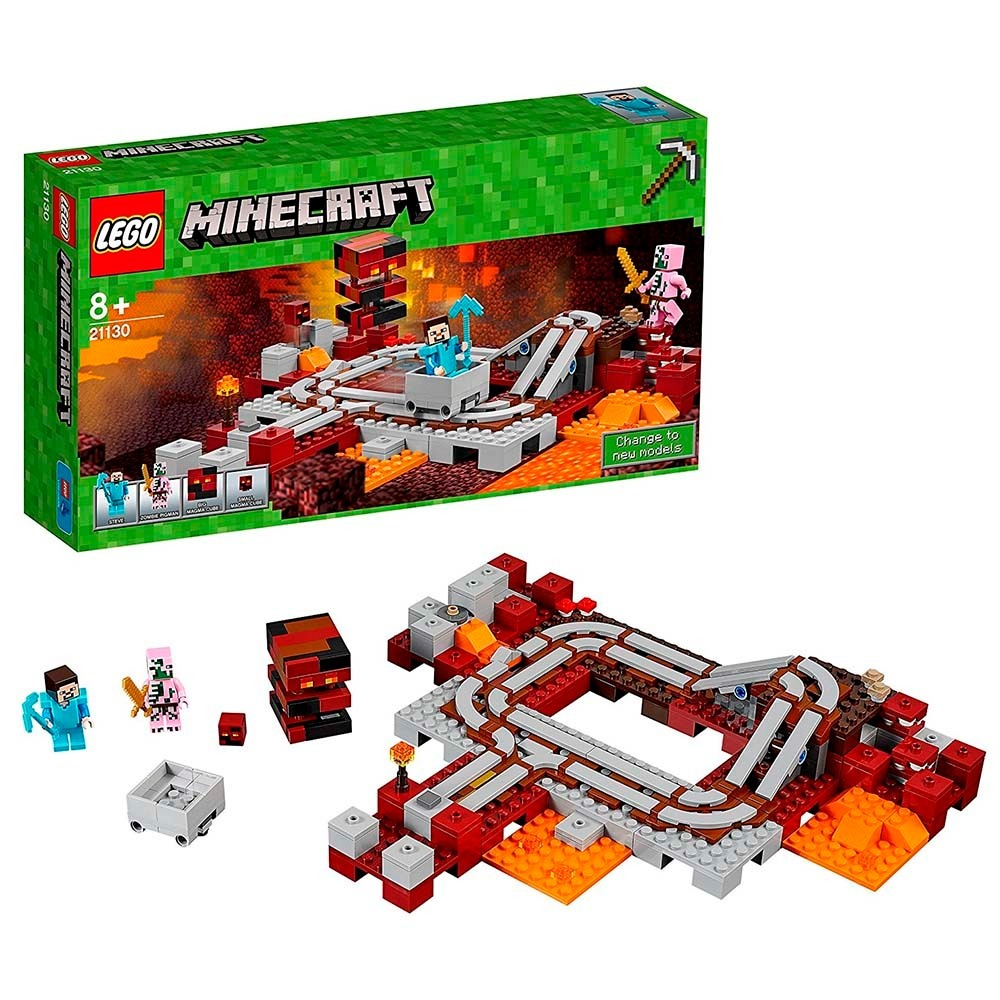 Lego Minecraft Ferrovia Nether 21130 (387 Peças) - R  239,90 em ... 76a1a7b50b