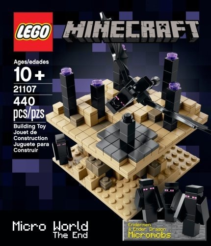 4 Endermen LEGO 21107 Minecraft The End Dimension Micro World Set Ender Dragon