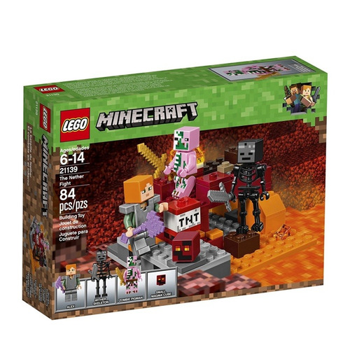 lego minecraft the nether fight