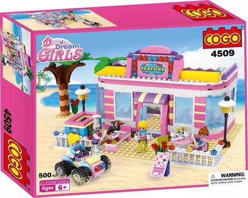 lego niñas restaurant de playa juguetes 500pc legos juguete