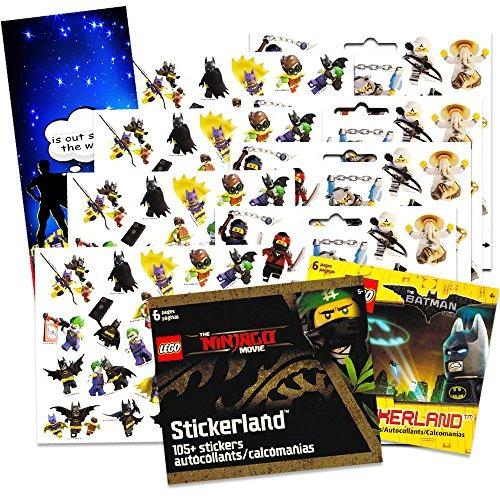 lego ninjago & batman stickers party supplies set ~ 2 sticke