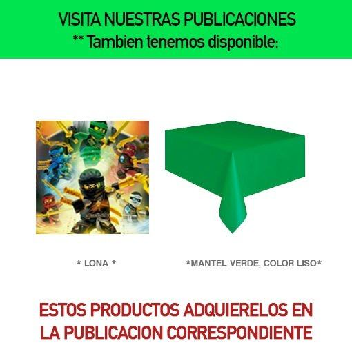 Lego Ninjago Dulceros Vasos Platos Libros De Colorear Fiesta ...