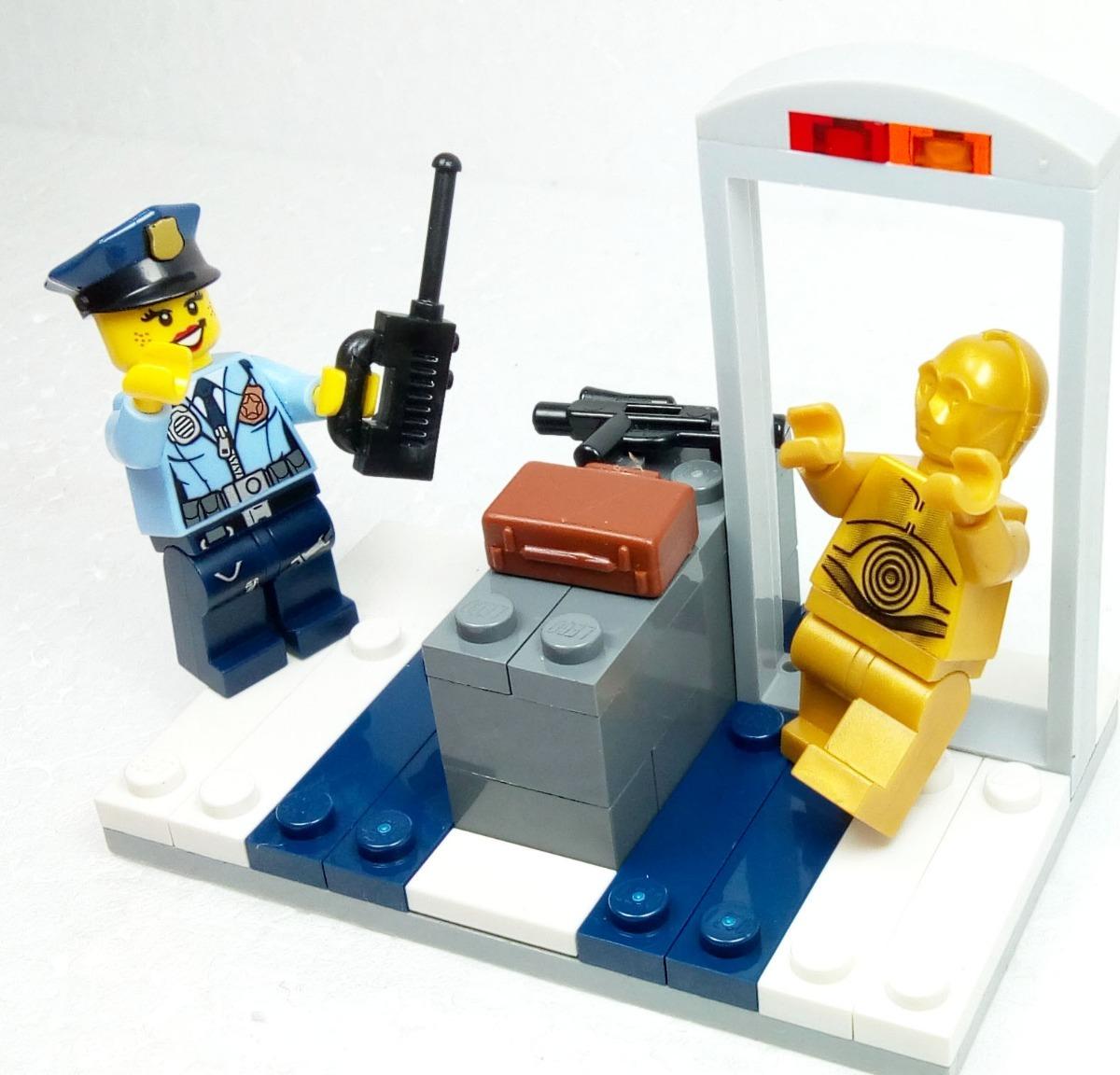 Aeroporto Lego : Lego original c po no aeroporto engraçado star wars r em