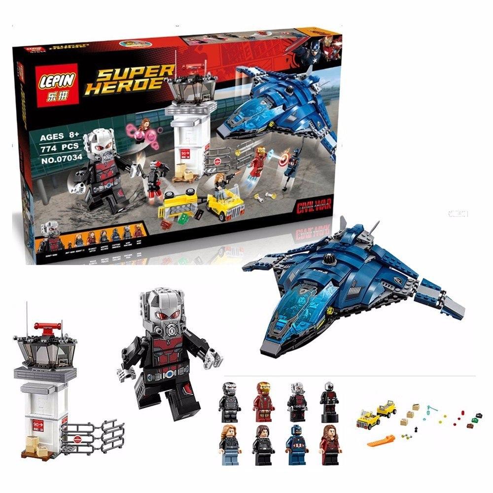Aeroporto Lego : Lego os vingadores guerra civil batalha no aeroporto r