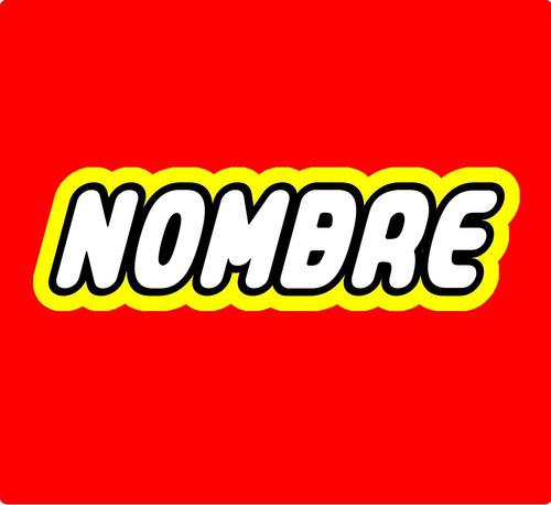 lego personalizado (logo) ideal para fiestas, etiquetas. etc
