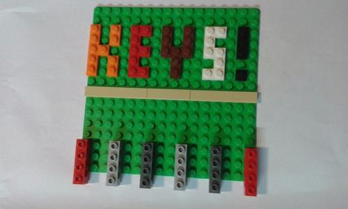 lego porta chaves feito conforme cores