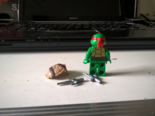 lego rafael tortugas ninja mini figura