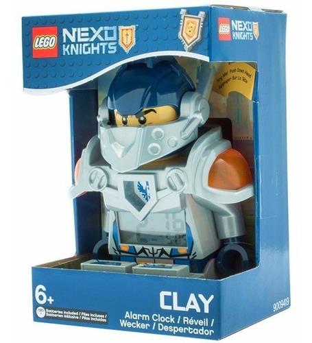 lego reloj despertador nexo knights clay