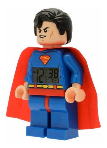 lego reloj despertador superman digital original iluminacion
