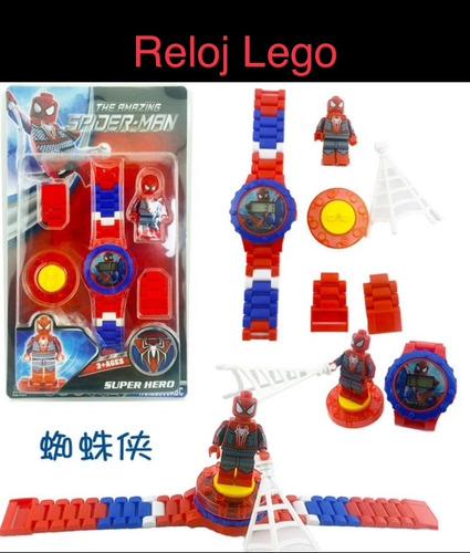 lego reloj niño avengers batman spiderman