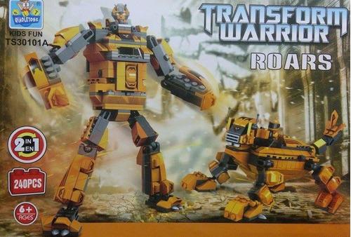 lego robot transgormer 2 en uno de 240 piezas