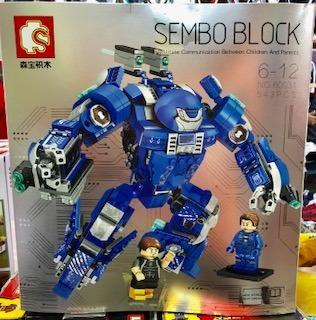 lego sembo block mk 38 - 543 peças
