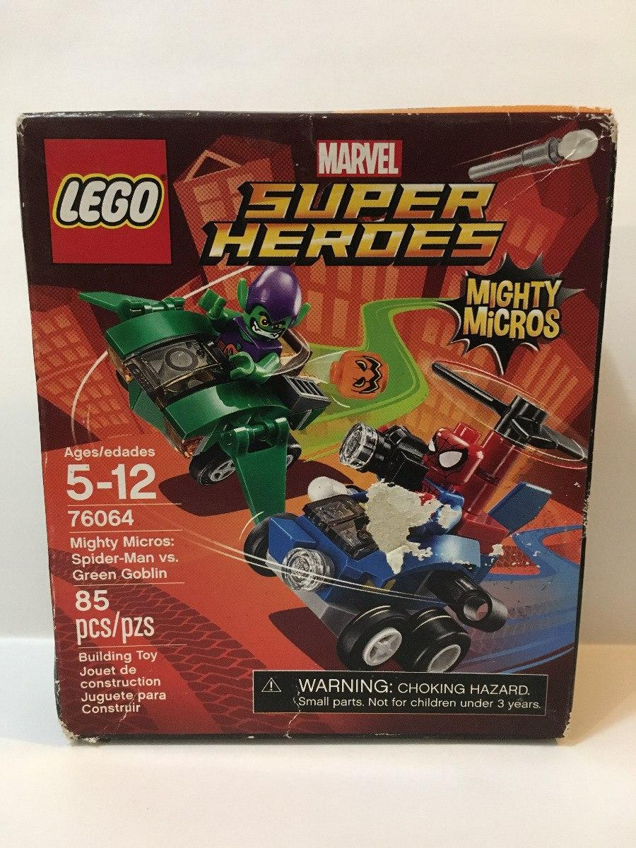 Lego Set Super Heroes Mighty Micros 76064 Spiderman 22900 En Spider Man Vs Green Goblin Cargando Zoom