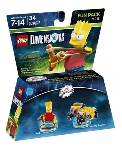 lego simpsons dimensions bart armable en caja nuevo