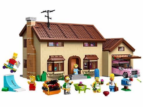 lego simpsons house 71006---con figuras de personaje