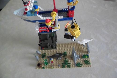 lego sortido: exploração fundo do mar com barco e construção