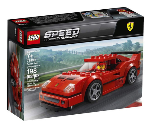 lego speed champions 75890 coche ferrari f40 198 pzas