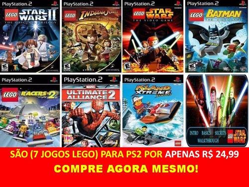 lego star wars 2 ps2 kit 7 jogos play station 2 frete grátis