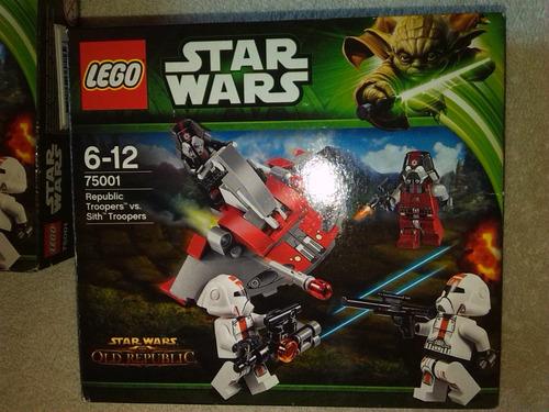 lego star wars. 4 sets 75001 republic + 3 bases ( armados )