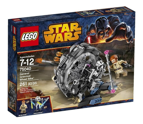 lego star wars general grievous  wheel bike modelo 75040