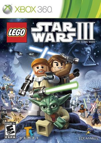 lego star wars iii 3: the clone wars - xbox 360 - lacrado