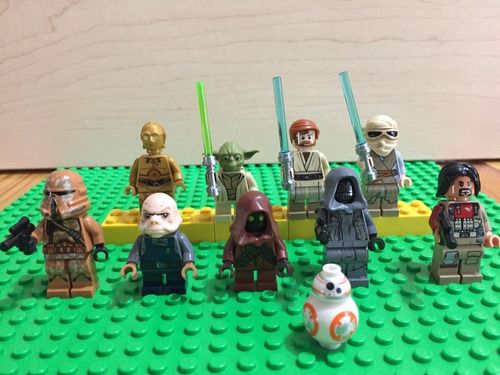 lego star wars lote 10 minifiguras