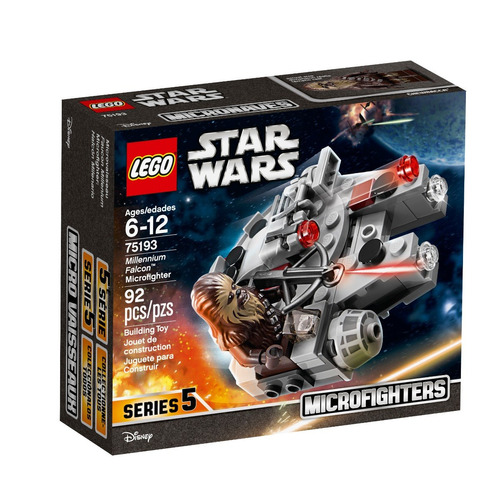 lego star wars - microfighter: halcón milenario (75193)