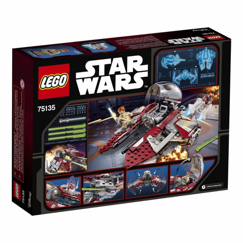 lego star wars: nave obi-wan kenobi jedi interceptor