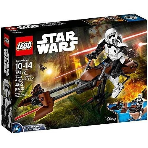 lego star wars, scout trooper & speeder bike