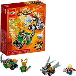 lego superhéroes mighty micros: thor vs. loki   envío gratis