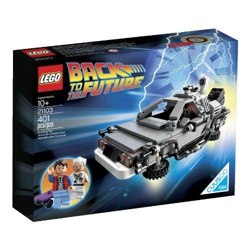 lego the delorean time machine building set 21103 descontinu