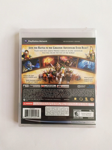 lego the lord of the rings ps 3 fisico